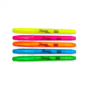 Sharpie 27075 Accent Pocket Style Highlighter, Assorted Colours, 5-Pack