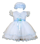 Baby Girls Christening/Wedding/Party Dress with Bonnet