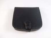 Mens Ladies Genuine Leather Square Coin Tray Wallet Black Brown Money Change Purse Pouch