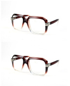 Unisex Fashion Frame Square Clear Lens Glasses 3043CL