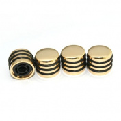 Surfing Guitar Rotary Knobs for 6mm Diameter Shaft Potentiometer Gold Tone
