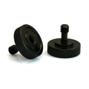 VONOTO 2 Pack Black Metal 0.6cm Male to 0.6cm Female Screw Adapter for Camera Tripod L Type Bracket Stand tripod ball head