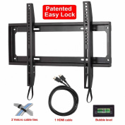 Mounting Dream MD2361-K Low Profile TV Wall Mount Bracket for most of 26-55 Inch LED, LCD and Plasma TV with VESA from 75X75 to 400x400mm, Loading Capacity 45kg, Including Magnetic Bubble Level (for for for for for for for for for for Samsung
