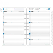 Day-Timer Weekly Refill 2016, 12 Months, Loose-Leaf, Desk Size, 14cm x 22cm , Simply Stated