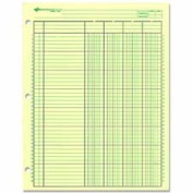 Rediform Office Products : Analysis Pad, 4 Column, 3 Hole, 5.1cm - 1cm W, 28cm x 22cm , Green -:- Sold as 2 Packs of - 1 - / - Total of 2 Each