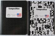 Black and White Patterned Wide Ruled Composition Notebook - Pack of 2