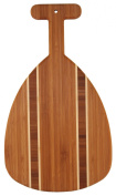 Totally Bamboo Outrigger Paddle Bamboo Cutting and Serving Board, 37cm