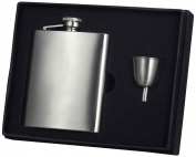 "Visol ""Clarity"" Premium Quality Flask Gift Set, 240ml, Chrome"