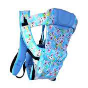 Multifunctional Newborn Baby Carriers For Household & Travel Cute Rabbit Blue