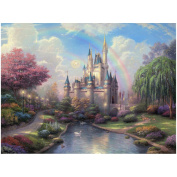 "Thomas Kinkade's ""New Day at the Cinderella Castle"" Canvas Print"