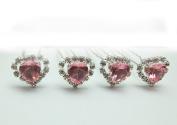Crystal Heart hair pins bling bridal fashion Wedding Prom accessory varsany