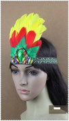 Indian Ostrich Feather Carnival Headband