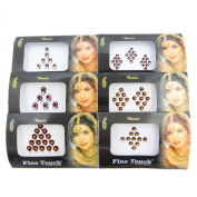 Banithani Pack Of 6 Bindi Self Adhesive Forehead Sticker Temporary Accessory