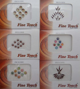 Pack Of 6 Bindi Forehead Bridal Sticker Self Adhesive Indian Accessory