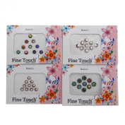 Pack Of 4 Multicolor Bindi Self Adhesive Forehead Sticker Accessory Gift
