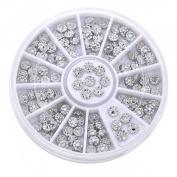 Sanwood Acrylic Studs Nail Art Stickers DIY Manicure Tips Decoration Wheel
