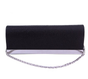 Tonwhar Glamorous Glitter Evening Wedding Party Clutch Purse Wallet with Detachable Chains