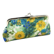 Embroidery Flower Women's Clutch Handbag Coin Purse Useful Hasp Pouch Wallet Money Bag