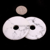 40mm Ring Gemstone Howlite Beads For Earrings And Pendant(Inside 7mm) 1 Piece