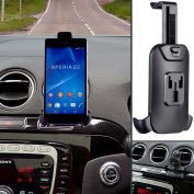 Ultimateaddons® Car Vehicle Pro Air Vent V2 Mount Attachment and Universal One Holder for Sony Xperia Z2 With Rain Cover