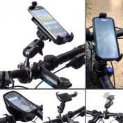 """Ultimateaddons Bicycle Bike Metal U Bolt 1"""" Ball Attachment 16-32mm Dia Extended Cycle Mount and One Holder for Samsung Galaxy S4"""