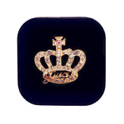 Creative Travel Contact Lenses Case Storage Holder, Black Crown