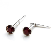 Sterling Silver Andralok Stud Earrings with 3mm Crystal