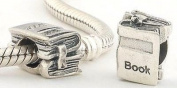 'Book Pile' Bead for Pandora Jewellery or Similar - 100% 925 Sterling Silver