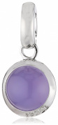 Viventy Pendant Round Rhodium-Plated 925 Sterling Silver with Synthetic Lavender Moonstone and Zirconia-One, 766532