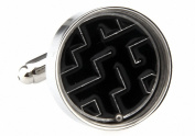 MFYS Modern Novelty Maze Puzzle with Moving Ball Cufflinks Gift