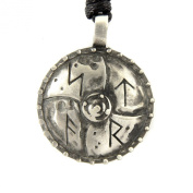 Mystical & Magical Viking Runic Battle Shield Pewter Pendant