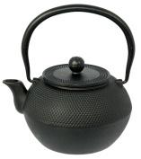 Buckingham 1.2 Litre Japanese Style Hob Nail Design Cast Iron Tetsubin Tea Pot, Black