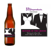 Mother of the Groom Beer Label Thank you for your help, Wedding Day, Marriage, Party Beer, Lager, Ale, Cider bottle label Celebration Gift, Present idea.