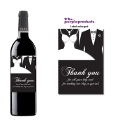 Thank you Wine Label Wedding Day Thank you for your help, Marriage, Party Wine bottle label Celebration Gift, Present idea.