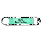 Stainless Steel Flat Speed Bar Bottle Opener I Love Heart Sports Hobbies E-G - Face Painting