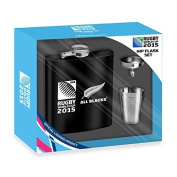 New Zealand All Blacks Rugby World Cup 2015 Hip Flask Gift Set