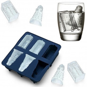 Joyoldelf Doctor Who Silicone Ice Cube Tray and Chocolate,Candy,Cookies Mould Maker - Tardis and Daleks