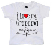 IiE, I love my Grandma this much, Baby Unisex Boy Girl T-shirt