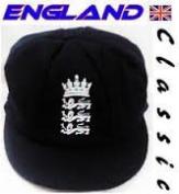 ENGLAND 3 LIONS MELTON CRICKET TEST CAP NAVY BLUE 58-61CM INNER