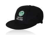 CLASSICAL TRADITIONAL BLUE MELTON WOOL CAP WITH IRELAND TEST LOGO SMALL PEAK BAGGY STYLE
