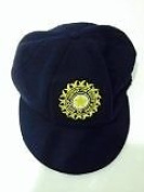 CLASSICAL TRADITIONAL MELTON WOOL BLUE INDIA CAP WITH TEST LOGO SMALL PEAK BAGGY STYLE