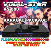 Vocal-Star VS-800 HDMI Multi Format Karaoke Machine with 2 Microphones and 300 Songs ...
