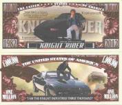 Novelty Dollar Knight Rider American Television Series High Tech Car Million Dollar Bills x 4