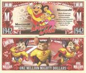 Novelty Dollar Mighty Mouse Animated Cartoon Character Million Dollar Bills x 4 Animation