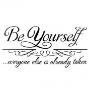 Pakhuis 30*62cm Be Yourself Quote Removable PVC Wall Sticker Wallpaper 8030