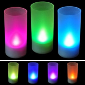 Pakhuis New Flicking LED 7 Colour Change Flameless Lights Candle
