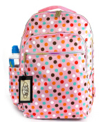 GFM Colourful Large Waterproof Backpack (147-POLKAGLB) for School College Travel Holidays