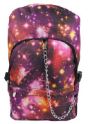 Space Galaxy Pattern Backpack Rucksack - Red School College Cosmos Bag