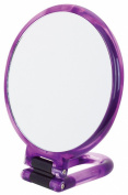 Danielle Creations Swirl Hand Held Mirror, Purple 14 cm