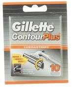 Gillette Contour Plus Cartridges - 10 Pack